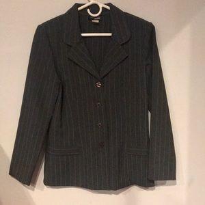 Gray pinstripe blazer